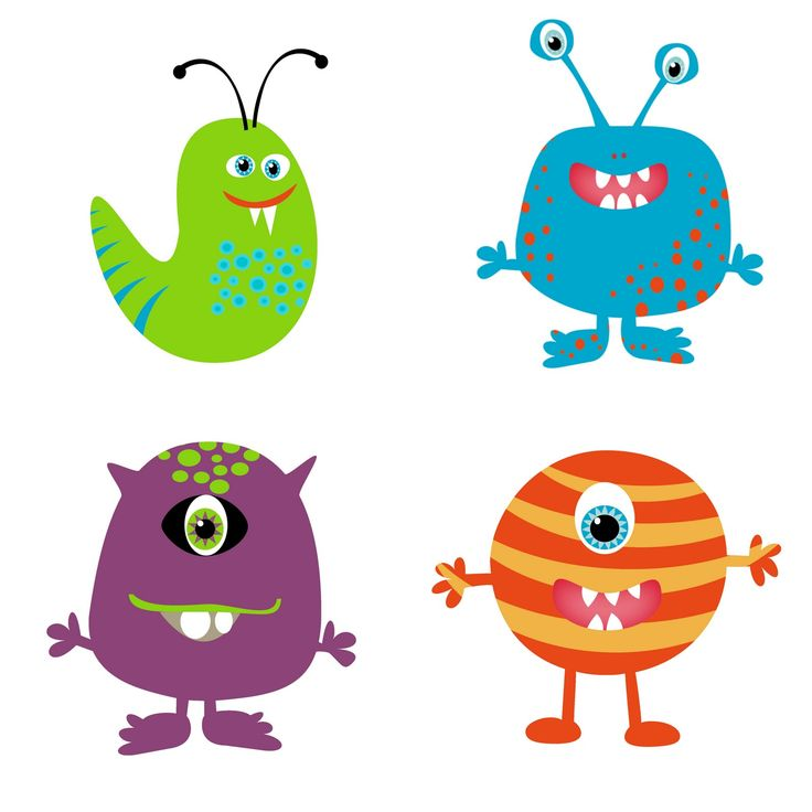 2 clipart monsters. Cute clip art image