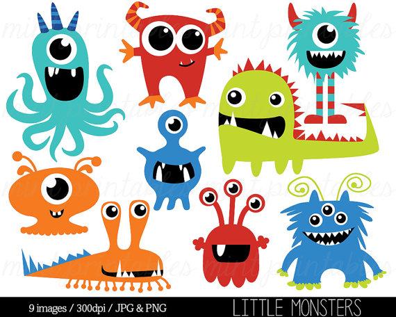 Monster clip art birthday. 2 clipart monsters