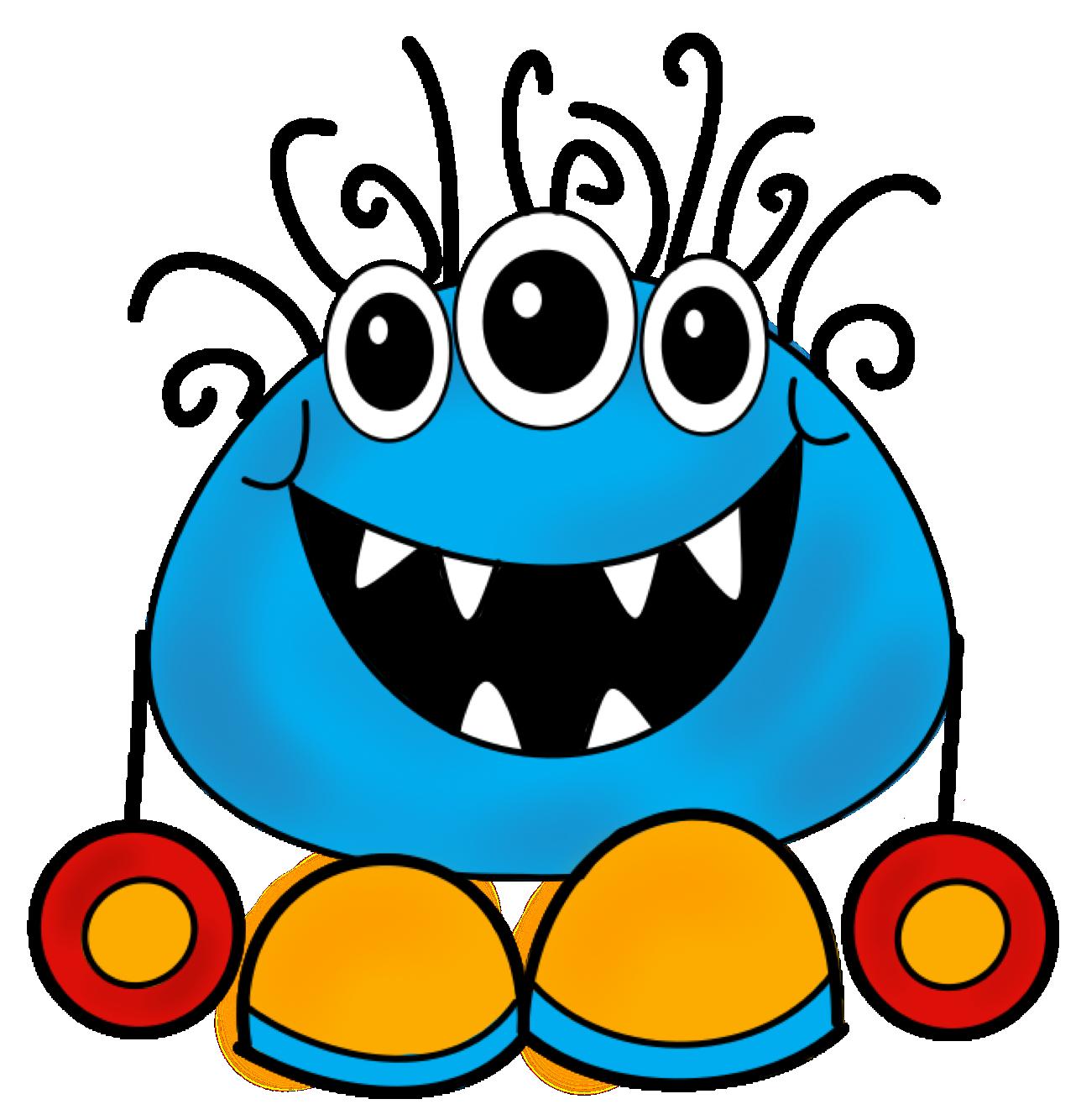 Monster clip art cartoon. 2 clipart monsters