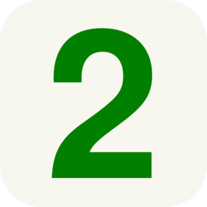 Two . 2 clipart number
