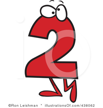 Number panda free images. 2 clipart numeral