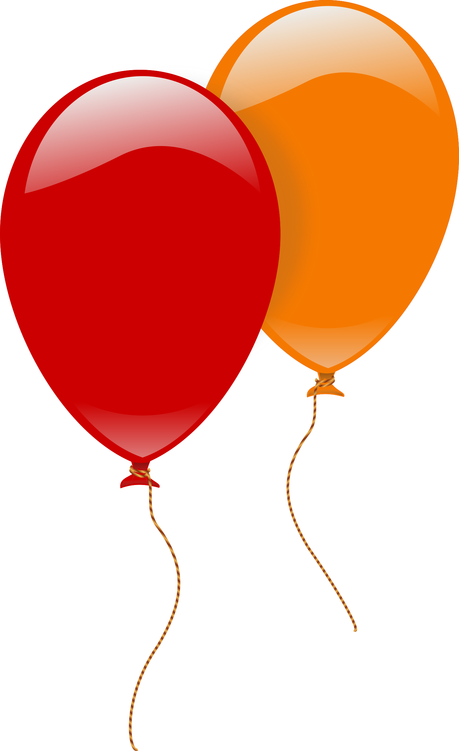 Two ballons big image. 2 clipart object