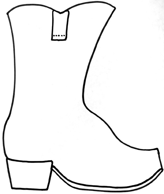 Boot outline panda free. Boots clipart black and white