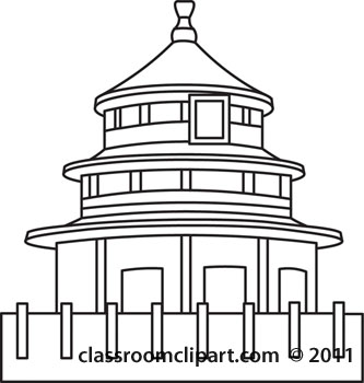 Architecture ancient china ancientchinaarchitectureoutlinejpg. 2 clipart outline