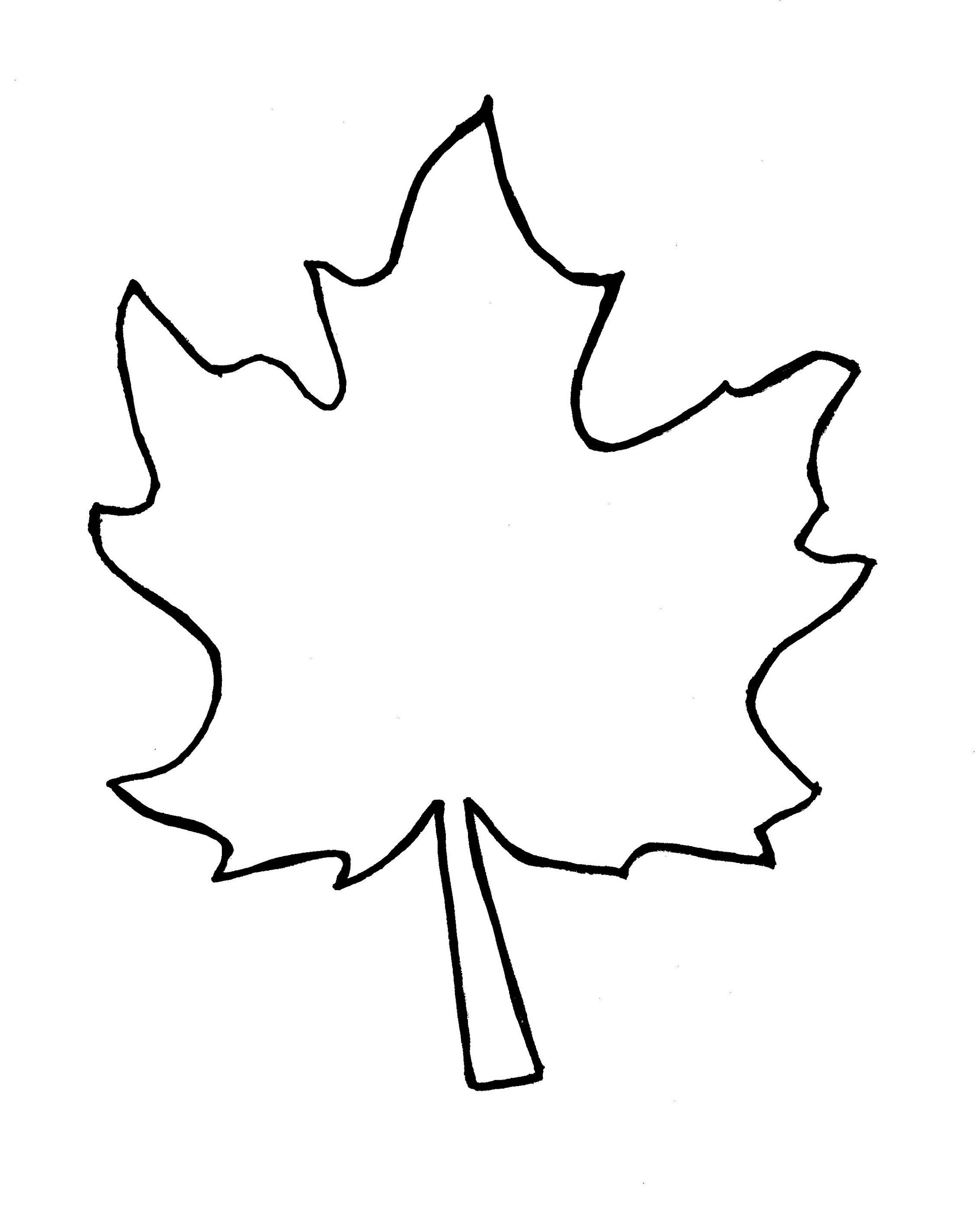 Autumn leaf template free. 2 clipart outline