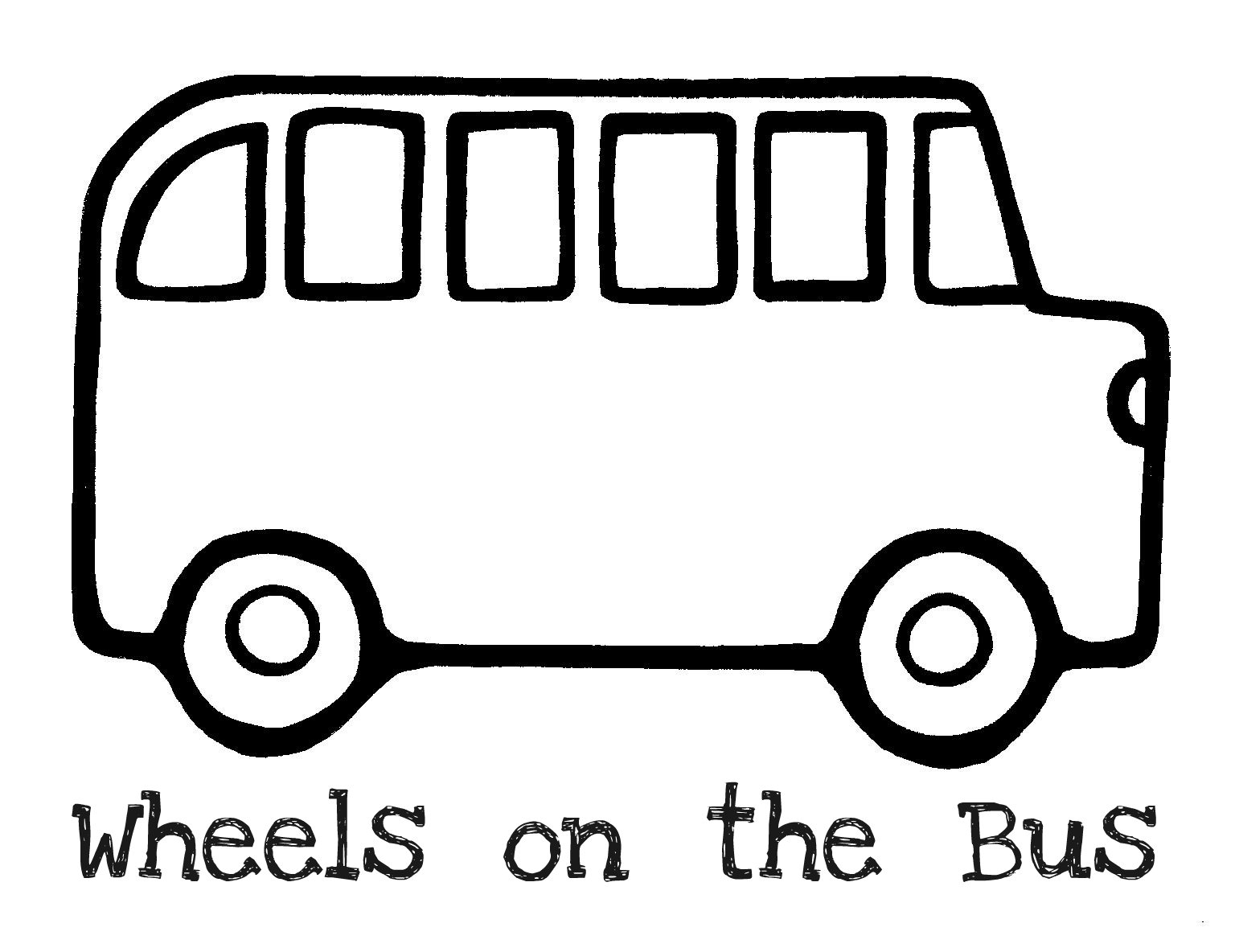 2 clipart outline. Bus black and white