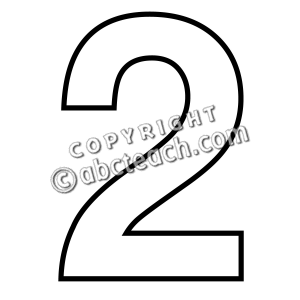 collection of black. 2 clipart outline