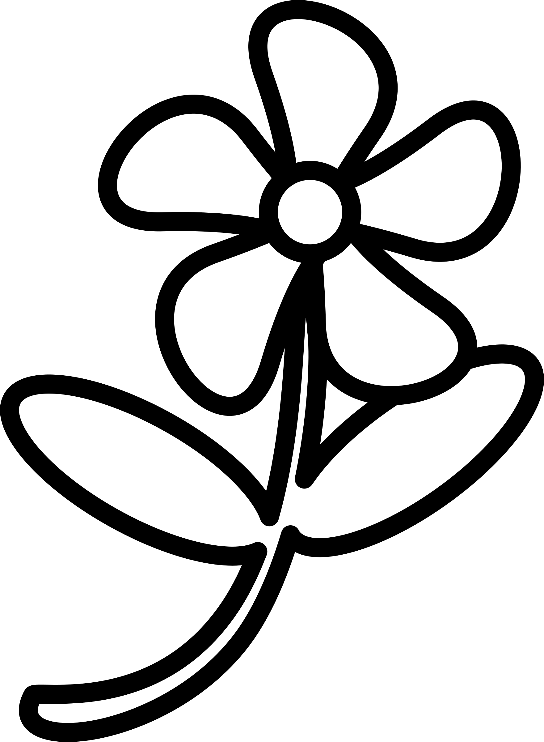 Clipart big image. Flower outline png