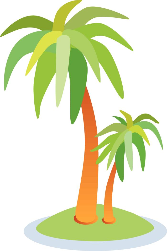 2 clipart palm tree. Tropical trees free clip