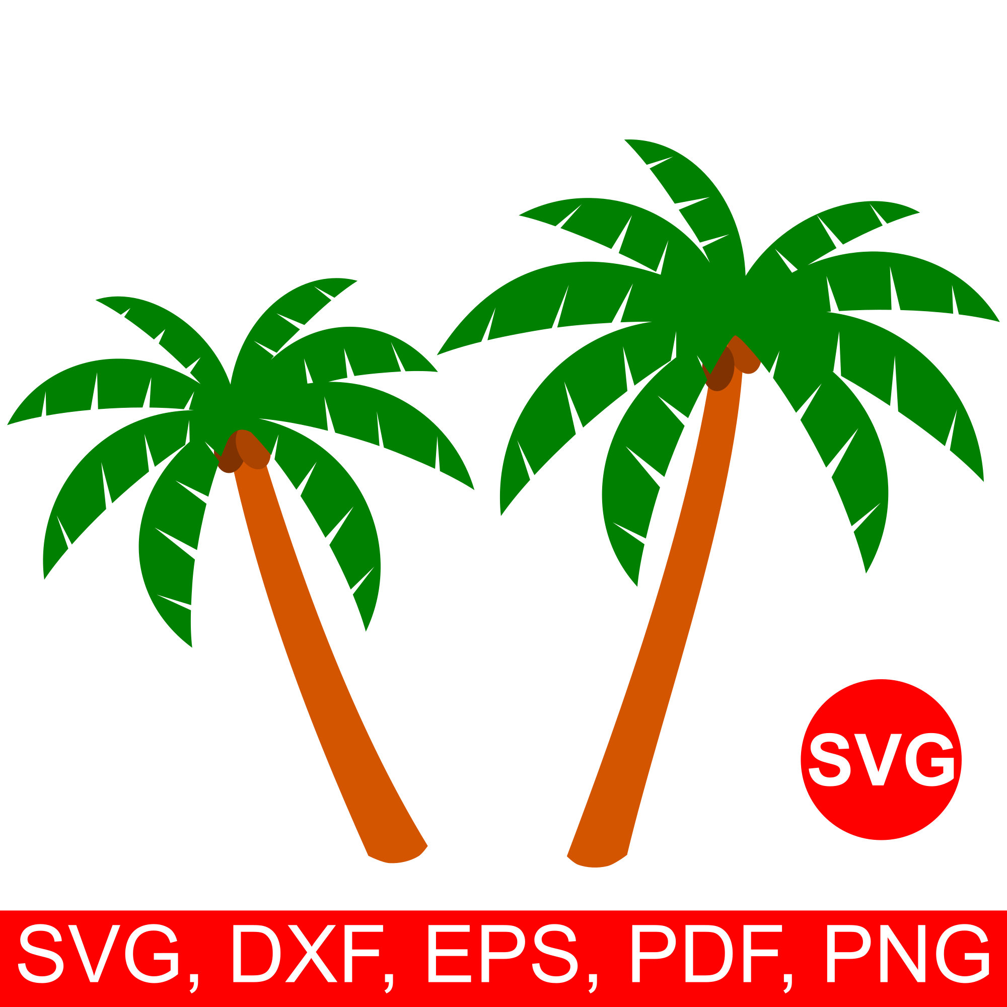 Svg file for cricut. 2 clipart palm tree