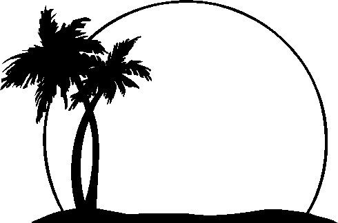 2 clipart palm tree. Black and white letters
