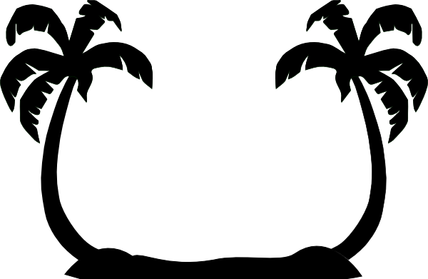 2 clipart palm tree.  trees clip art