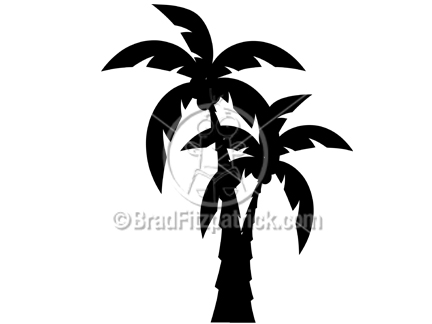 Graphic silhouette clip art. 2 clipart palm tree