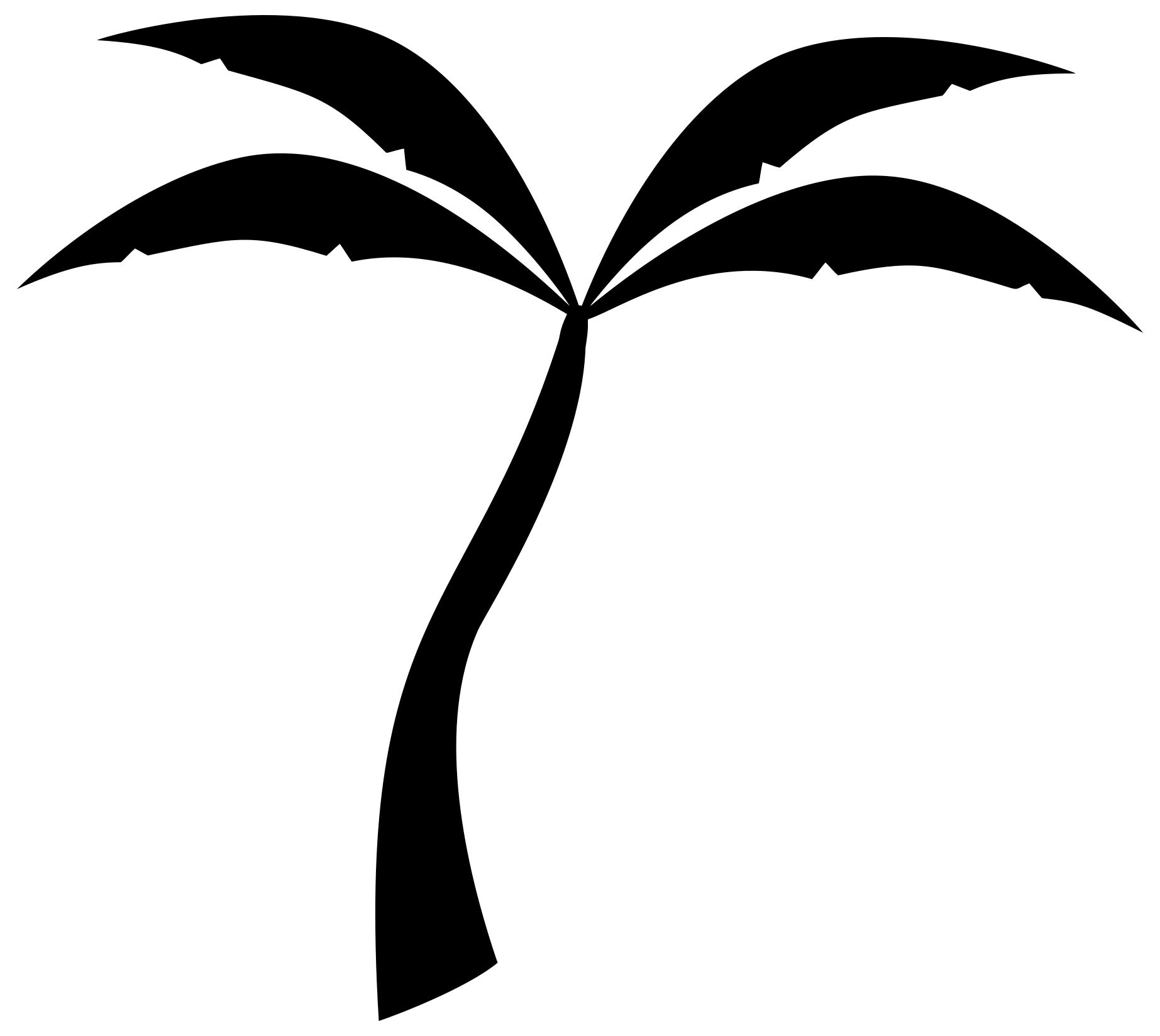 2 clipart palm tree. Silhouette design droide