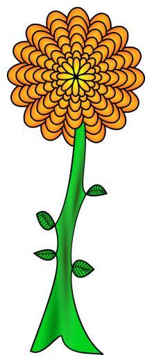 Flower design droide . 2 clipart path