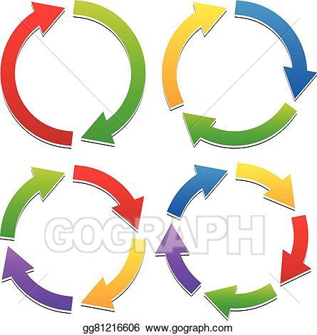 Vector art colorful circular. 2 clipart path