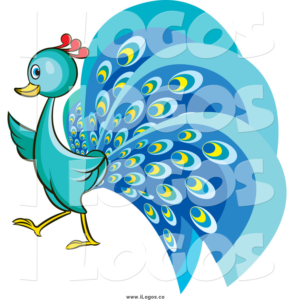 Cute station . 2 clipart peacock