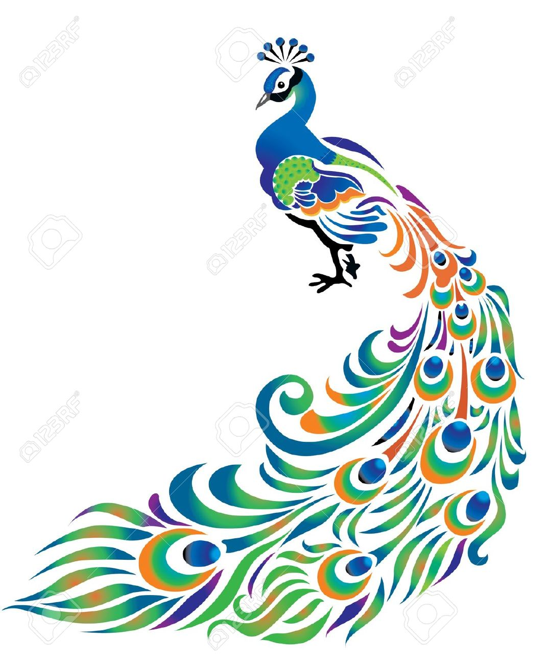 Free clipartix . 2 clipart peacock