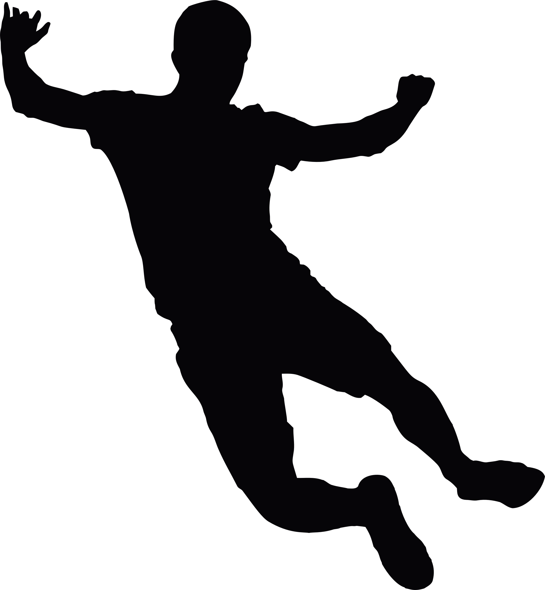 2 clipart person. Jumping man silhouette big