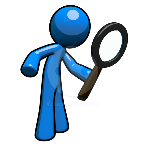 Magnifying glass station . 2 clipart person