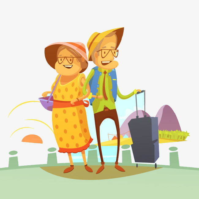 2 clipart person. Elderly couple people happy