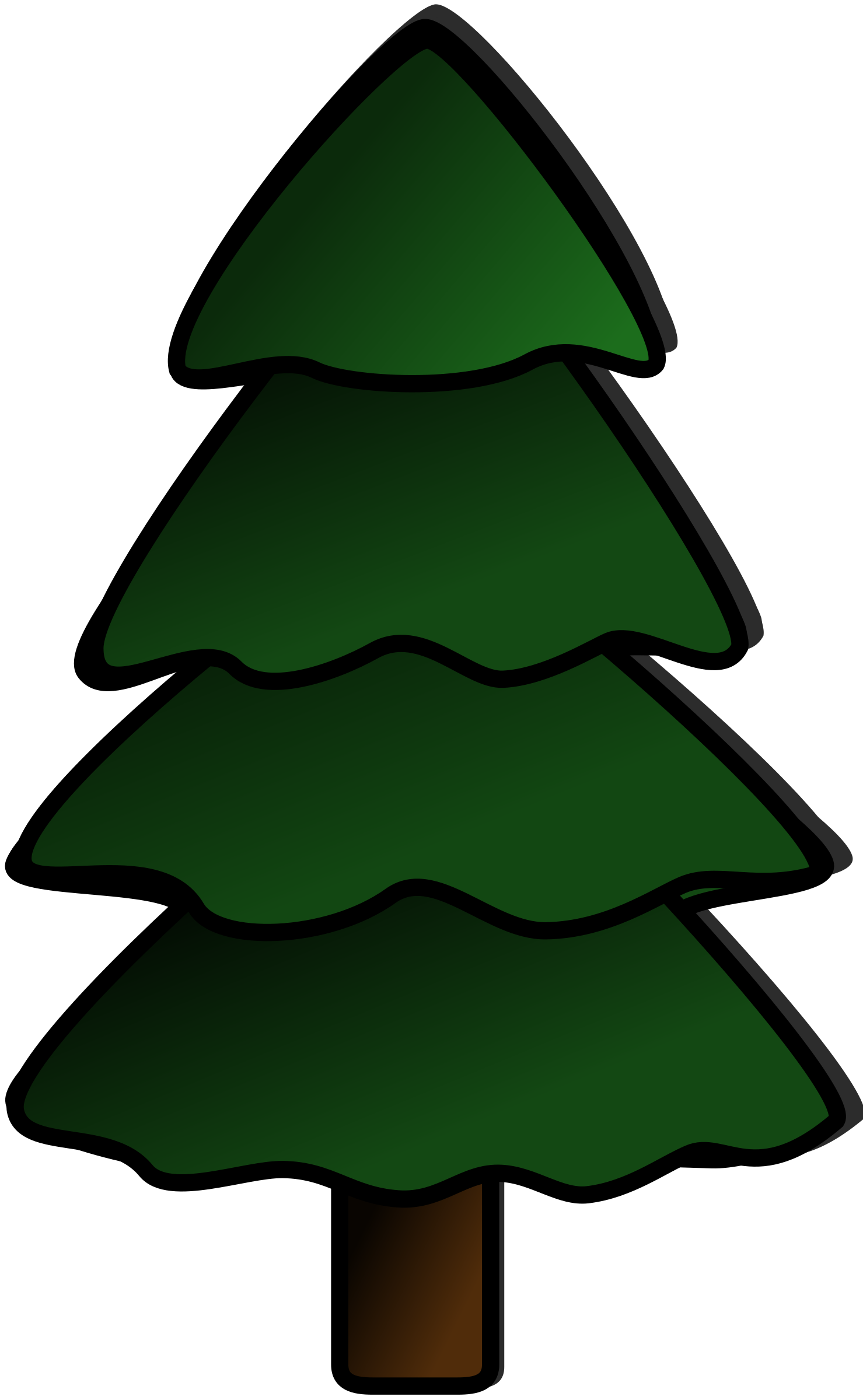 By harmonic an undecorated. 2 clipart pine tree