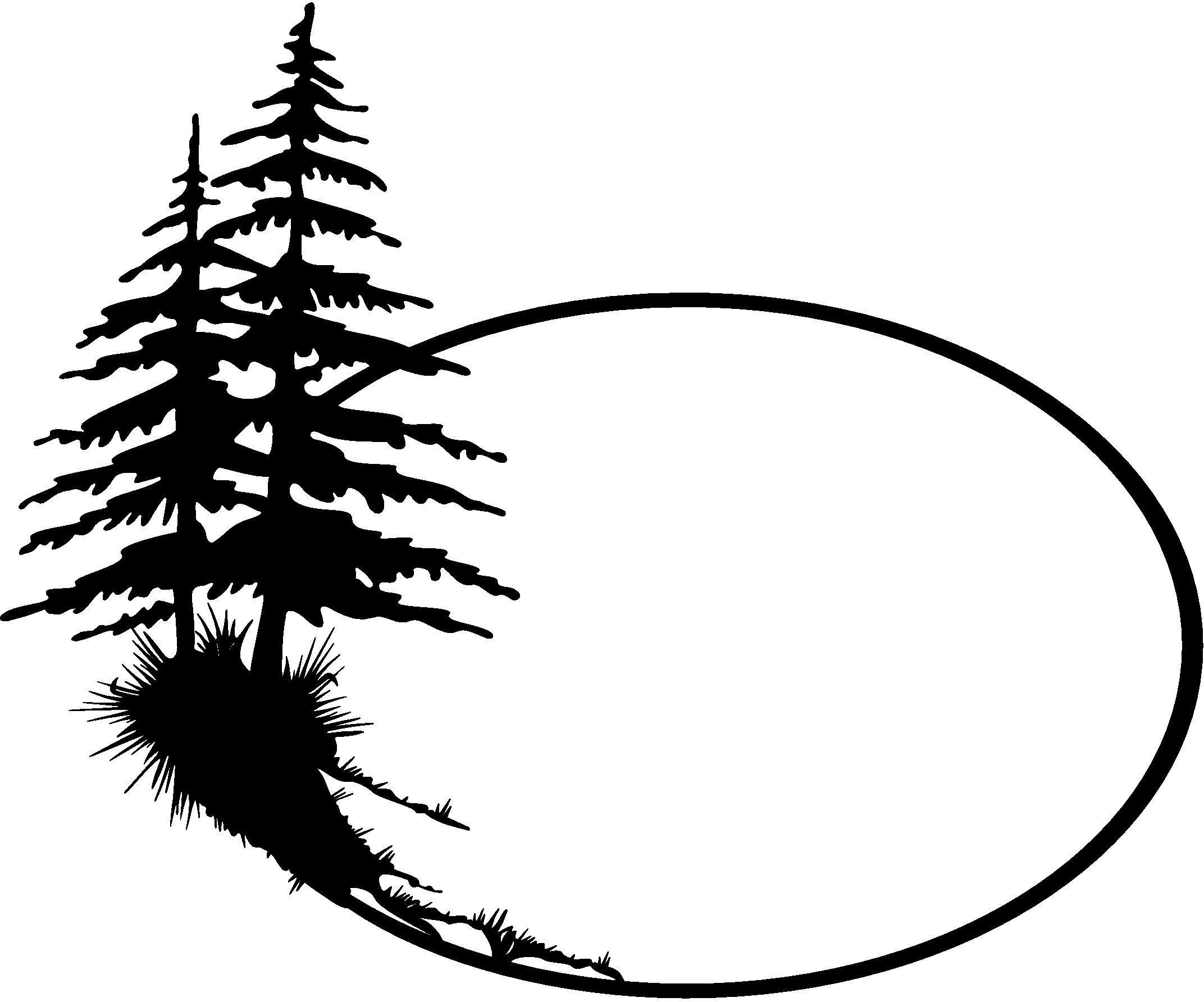 Silhouette clip art silhouettes. 2 clipart pine tree