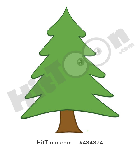 2 clipart pine tree. Christmas by hit toon