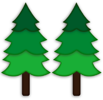 Free pine trees cliparts. Camping clipart forest