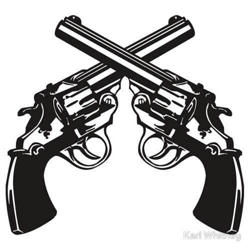 Pistol clipart two gun