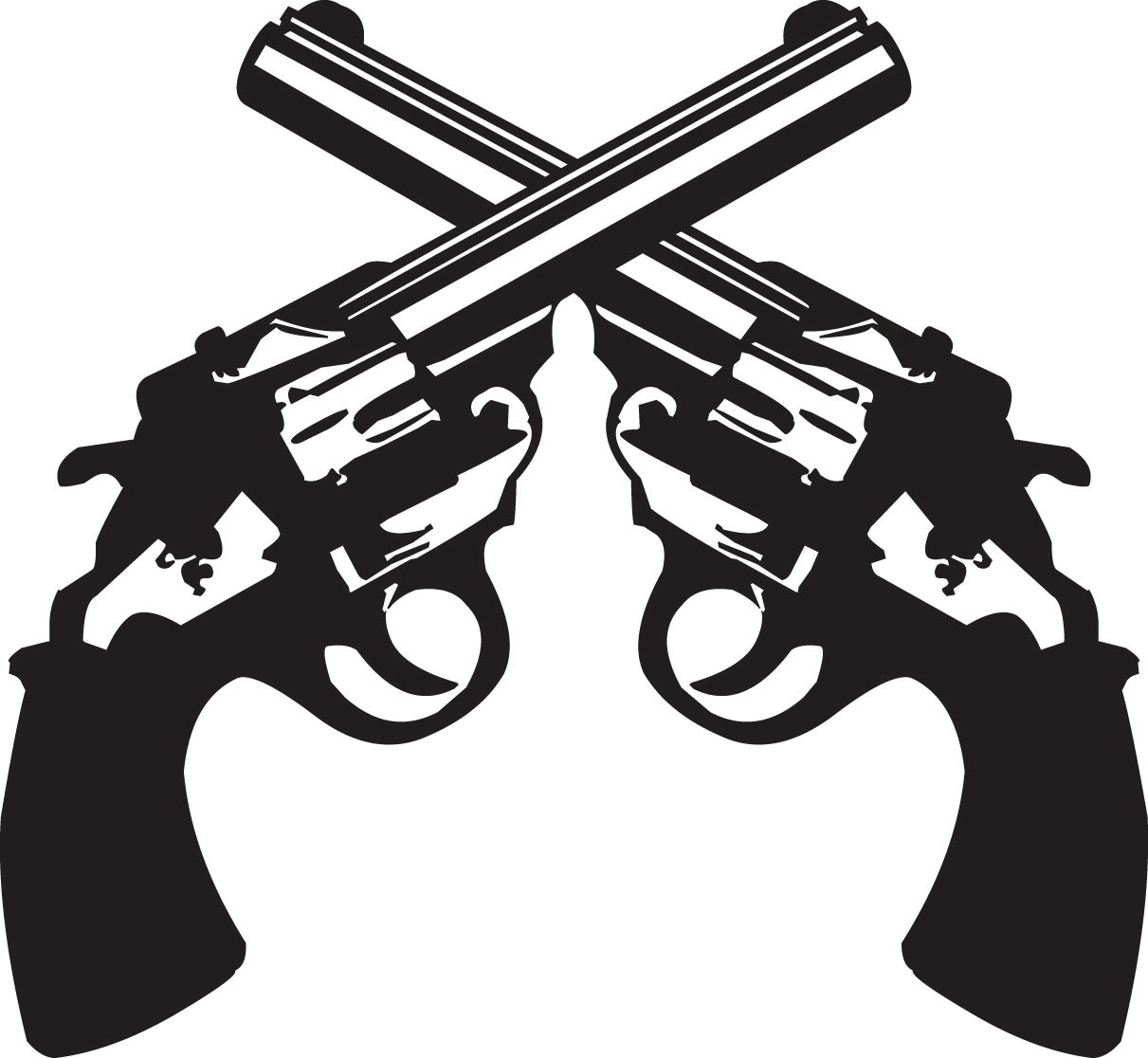 2 clipart pistol. Crossed pencil and in