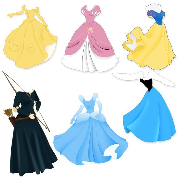 Dress station . 2 clipart princess
