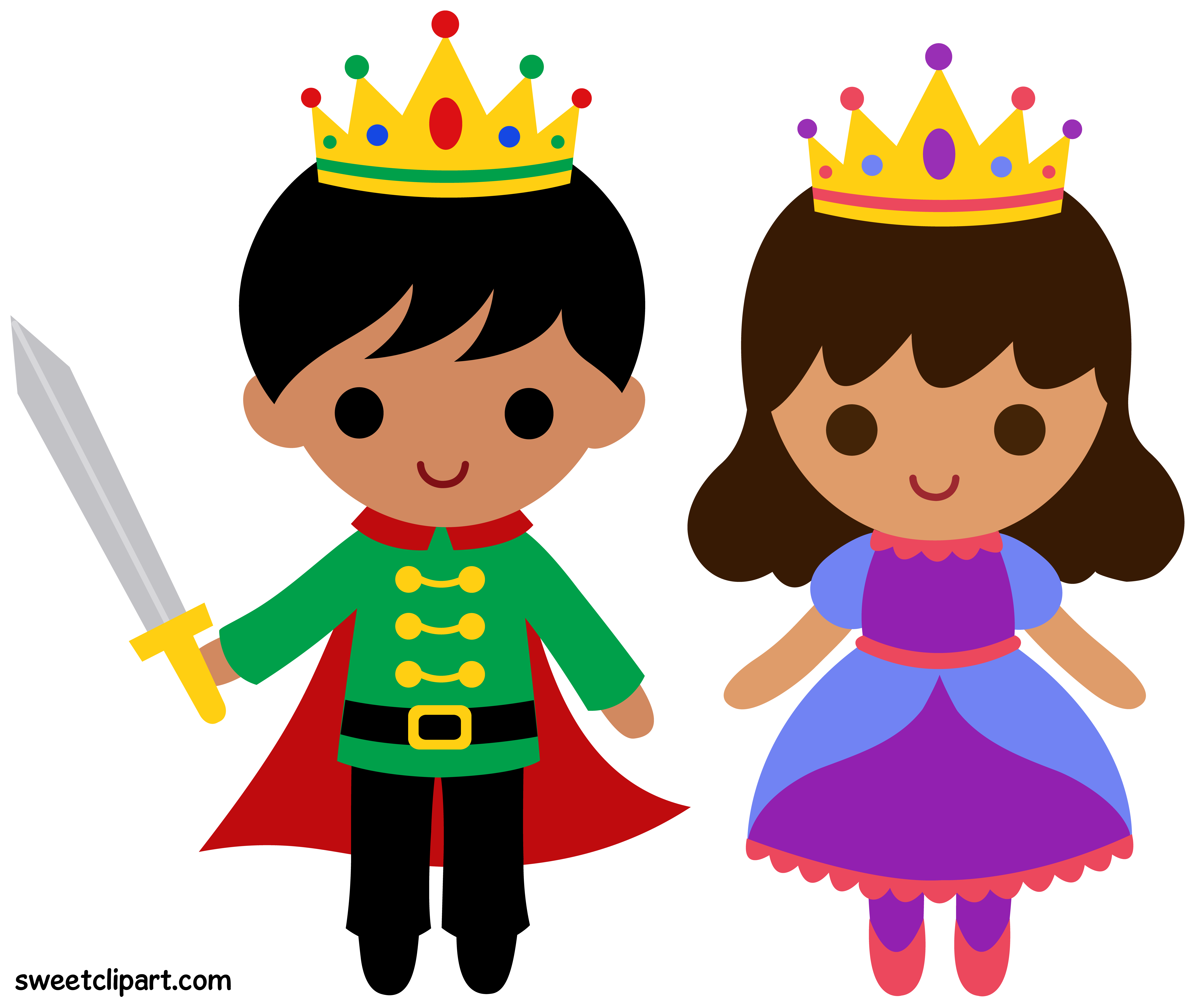 Prince and clip art. Princess clipart