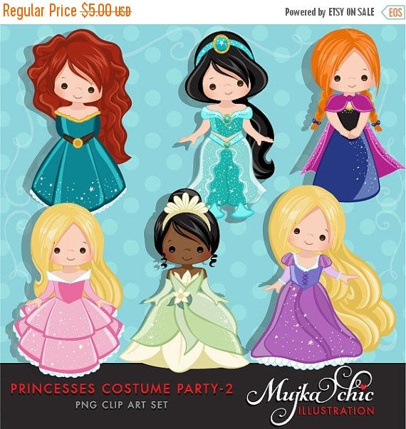 2 clipart princess. Costumes with cute characters
