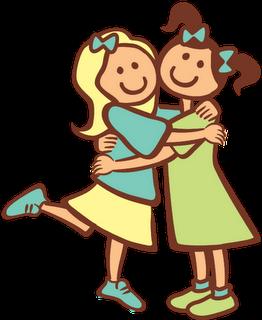 2 clipart sibling. Sisters hugging