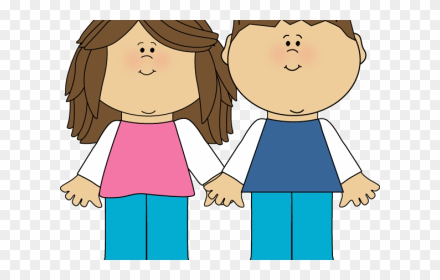 Brother clipart transparent. Brunette sisters and sister