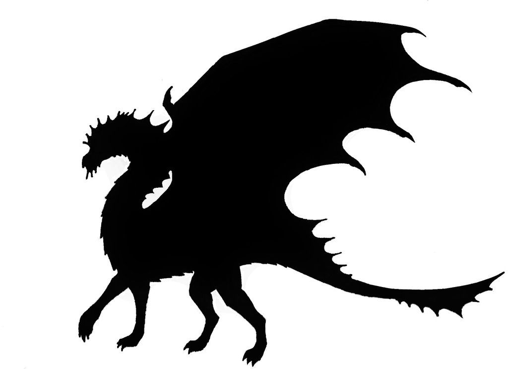 Dragon by astralguardian on. 2 clipart silhouette