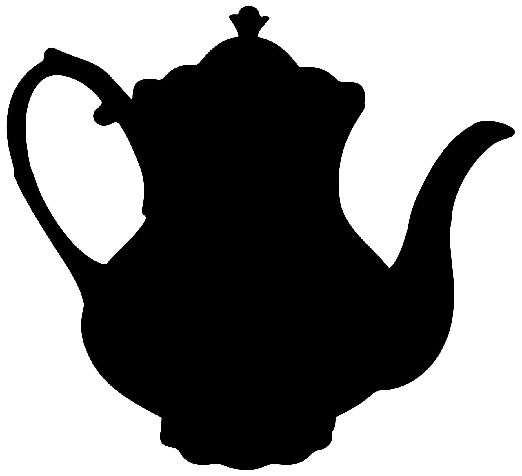 2 clipart silhouette. Teapot design droide