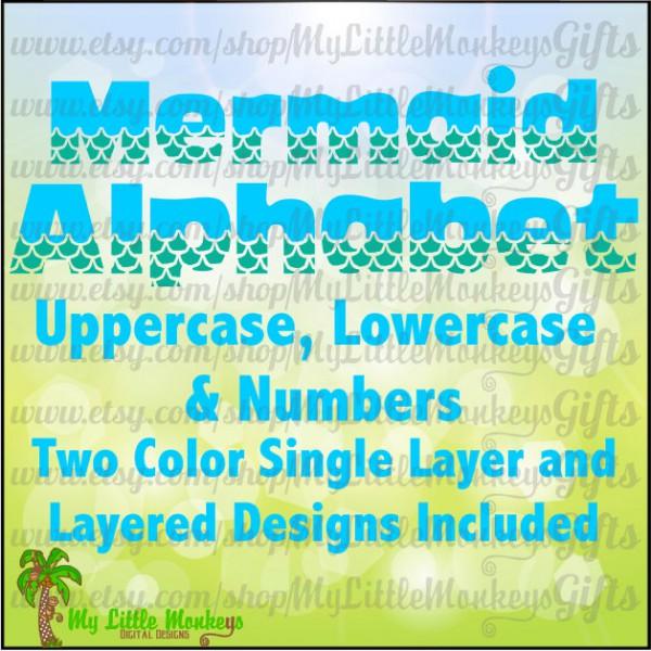 2 clipart single number. Mermaid alphabet uppercase lowercase