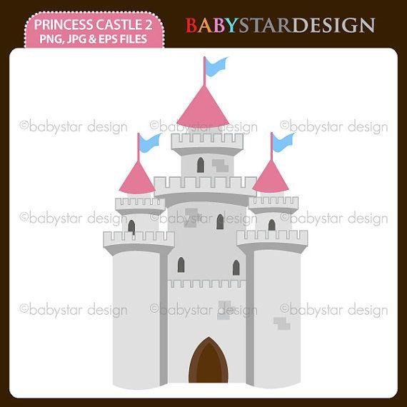 Princess castle by babystardesign. 2 clipart single number