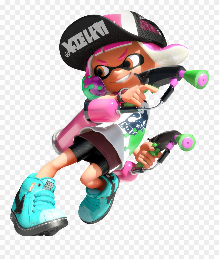 2 clipart splatoon.  inkling girl png