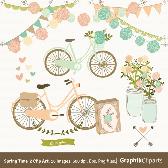 Time mason jars floral. 2 clipart spring