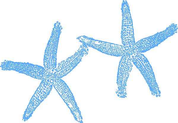 Two blue clip art. 2 clipart starfish