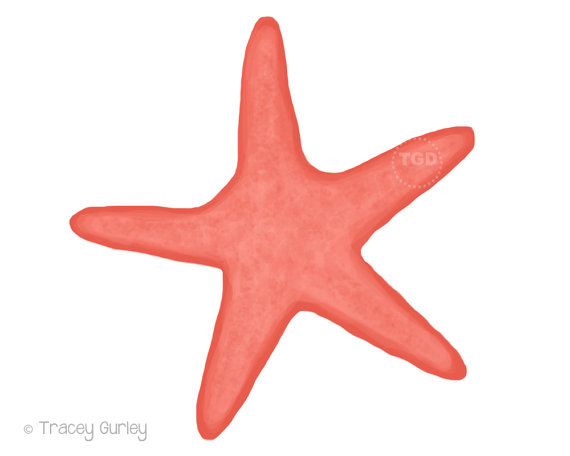 Coral original art download. 2 clipart starfish