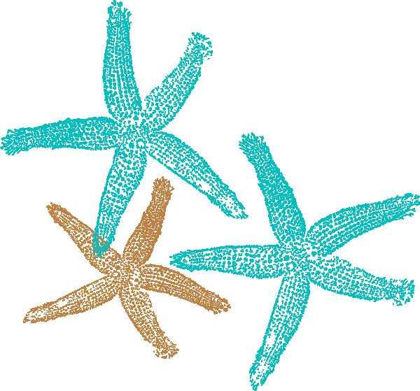Color clipart coral. Starfish clip art prints