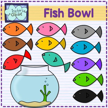 Fish bowl and clip. 2 clipart term