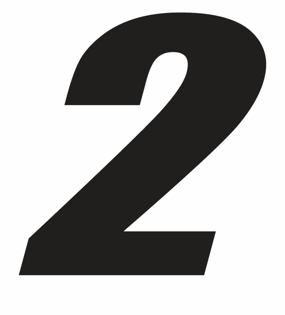 Number png free images. 2 clipart transparent background
