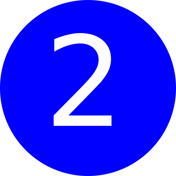 2 clipart transparent background. Number blue clip art