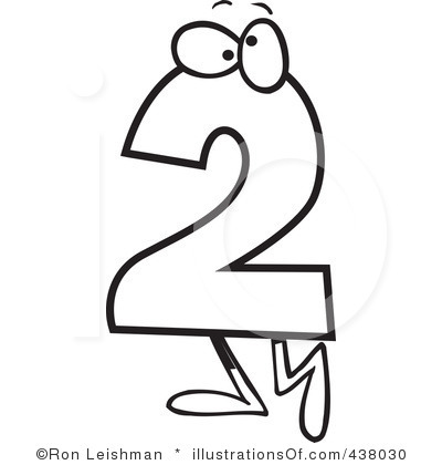Number panda free images. 2 clipart two