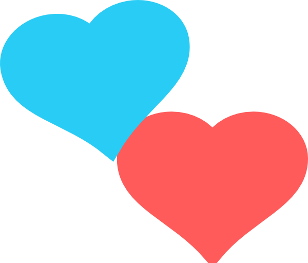 2 hearts png. Two clip art at